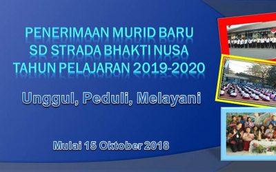 Penerimaan Murid Baru Tahun Pelajaran 2019-2020